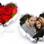 Fotomontaje de corazón de papel relleno con rosas