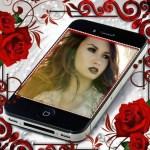 Fotomontaje de Iphone con detalle de flores