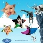 Fotomontaje de Frozen para tres fotos
