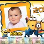 Fotomontaje de Calendario 2015 Minions con foto