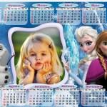Fotomontaje de Calendario Frozen 2015