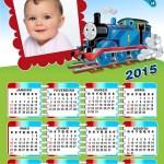 Fotomontaje Calendario 2015 infantil de Thomas y amigos