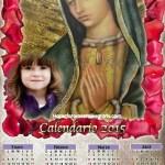 Fotomontaje de Calendario 2015 Virgen de Guadalupe