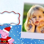 Fotomontaje de Peppa y George Pig en Navidad