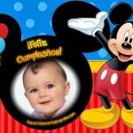 Fotomontaje de Feliz Cumpleaños con Mickey Mouse