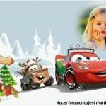 Fotomontaje navideño de Cars con Rayo y mate