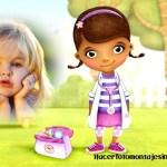 Fotomontaje para niñas con la Doctora Juguetes