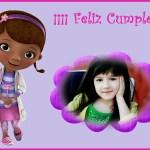 Fotomontaje de Cumpleaños con la Doctora Juguetes