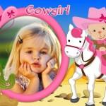Fotomontaje de vaquerita para niñas