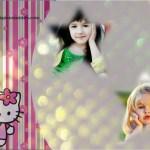Fotomontaje de Hello Kitty para colocar dos fotos