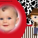Fotomontaje infantil de Cowboy