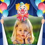 Fotomontaje de payasito para Cumpleaños infantil