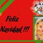 Fotomontaje de Feliz Navidad con Minnie y Mickey