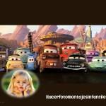 Fotomontaje con los personajes de Cars