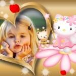 Hermoso fotomontaje de Hello Kitty