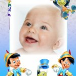 Fotomontaje infantil de Pinocho