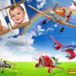 Fotomontaje de Aviones Pixar para dos fotos