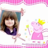 Fotomontaje de Peppa Pig gratis