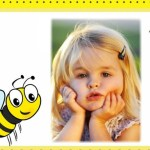 Fotomontaje infantil de abejita