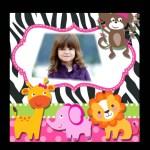 Hermoso fotomontaje de Safari para fotos de nenas