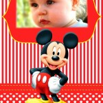 Hermoso fotomontaje de Mickey Mouse