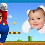 Fotomontaje infantil con Mario Bros