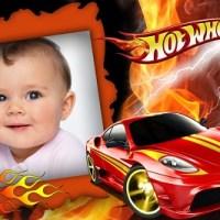 Fotomontaje de Hot Weels