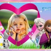 Marco de Elsa y Anna Frozen para editar foto