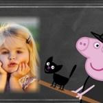 Fotomontaje de Peppa Pig Halloween
