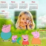 Fotomontaje de Calendario 2016 de Peppa Pig cerdita