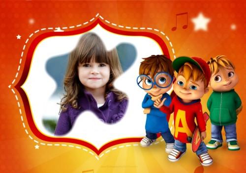 Fotomontaje de Alvin y Las Ardillas - marcos para fotos de Alvin y las Ardillas
