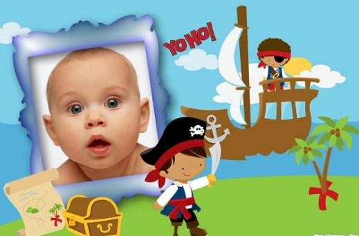 Fotomontaje de Niños Piratas para hacer gratis