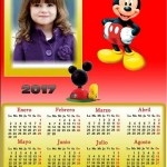 Fotomontaje de Calendario 2017 de Mickey