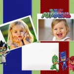 Fotomontaje de PJ Masks para dos fotos