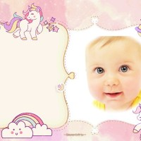 Fotomontaje infantil con Unicornios
