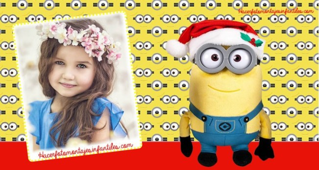 photo editor minions Merry Christmas