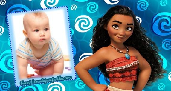 Fotomontajes de Moana Disney - Marcos de moana disney