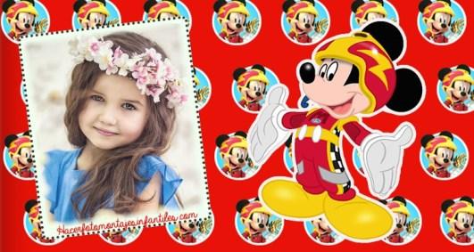 Fotomontajes Mickey sobre ruedas