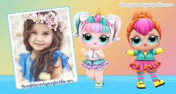 Lol Dolls marcos para fotos