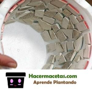 macetas decoradas hechas con cemento