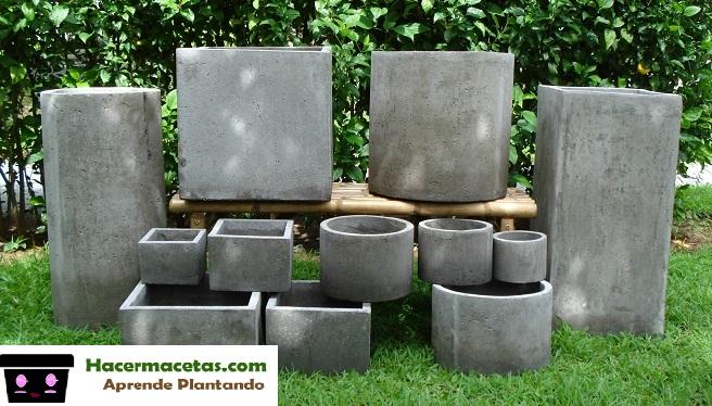 modelos varios de macetas de cemento