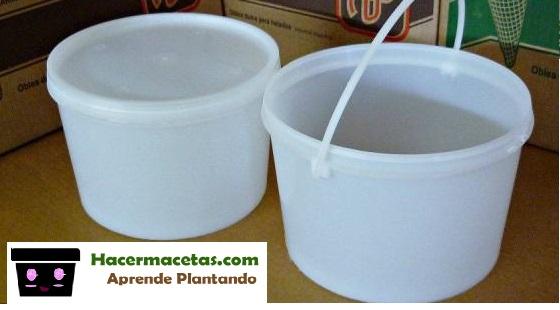 envaces reciclados para macetas