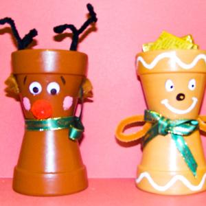 macetas decoradas navidad