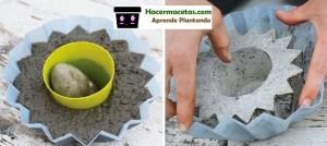 Como Hacer Macetas de Cemento con resiclaje