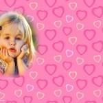Marco de corazones para fotos