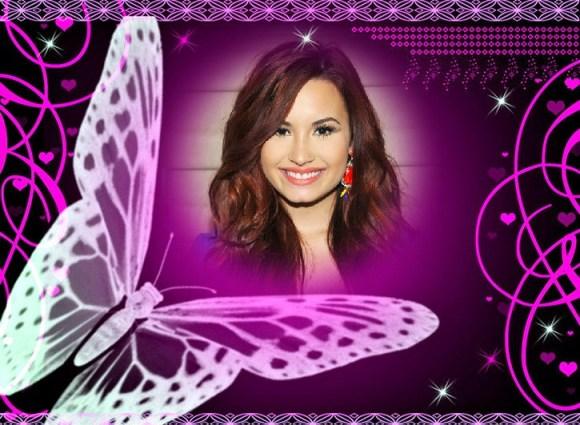 mariposa en violeta