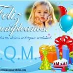 Marco de Cumpleaños con globos y regalos