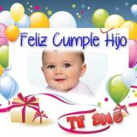 Marco Feliz Cumpleaños Hijo para editar gratis