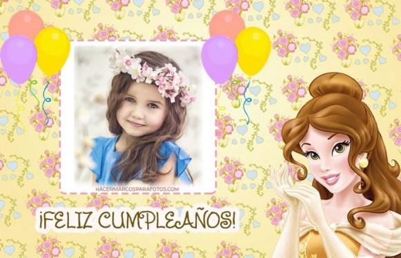 Fotomontaje Feliz Cumpleanos Princesa Bella