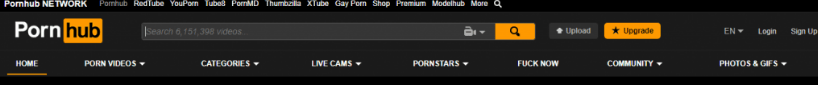 pornhub header website